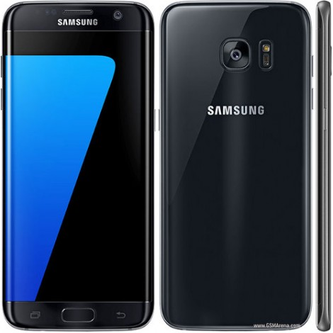 Samsung Galaxy S7 Edge + Free Clear View Cover | Black