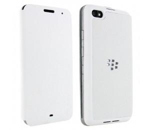 Blackberry Z30 Series Flip Case Leather | White